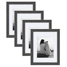 designovation wyeth multi pack set of 4 transitional frames 11x14 matted to 8x10 distressed gray com