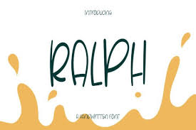 Download in svg, png and 4 more formats. Ralph Font By Wanida Toffy Creative Fabrica In 2020 Brochure Design Template Social Media Drawings Signature Fonts