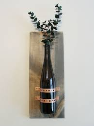Wine bottle cork holder wall decor. Turning Recycled Bottles Into Rustic Chic Wall Decor Hometalk