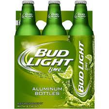 Green Bud Light Bottles Bud Light Lime Beer 6 Pack 16 Fl Oz Aluminum Bottles
