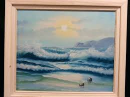 seascape oil paintings artist signed s painting