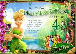 Tinkerbell Invitations Printable Tinkerbell Birthday Invitations Printable Invitation