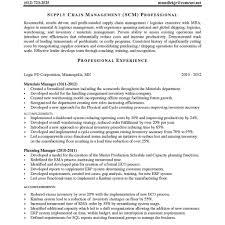 Supply Chain Management Job Description Supply Chain Management Resume Berathen For Supply Chain 12