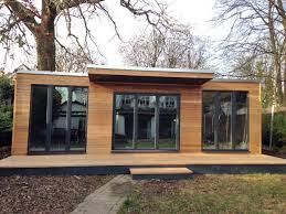 office in the garden. Unique Garden Office, With Canopy And Decking Office In The I