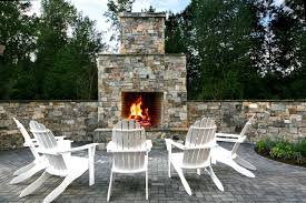 fireplace with glacier mountain natural stone outdoor fireplace