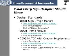 Odot Traffic Control Plans Design Manual Ppt Odot Sign Design Powerpoint Presentation Free