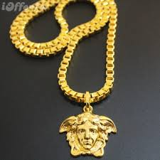 mens beauty avatar 18k necklace hiphop hip hop jewelry