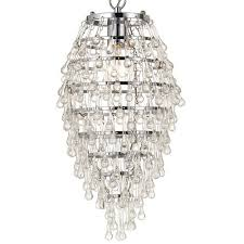 af lighting 8122 1h elements transitional crystal teardrop single light mini chandelier in chrome with clear drop glass