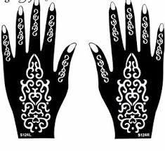 Tribal Mehndi Henna Stencils Hands Simple Design Sheets Kit