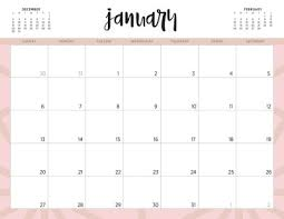 2019 Calendar Printable By Month Free 2019 Printable Calendars 46 Designs To Choose From