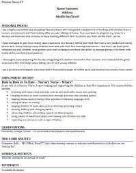 Cv Example For A Nursery Nurse Lettercv Com