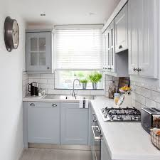 tiny kitchen pick pale and add reflective surfaces grey kitchen ideas