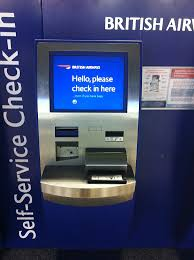 Gatwick Airport Sim Card Vending Machine Custom British Airline Check In Kiosk Machine In The Airport Kiosk And