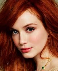 red hair simple light makeup