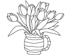 Tulipe 7 Nature Coloriages Imprimer