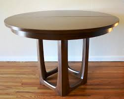 image of mid century modern round dining table