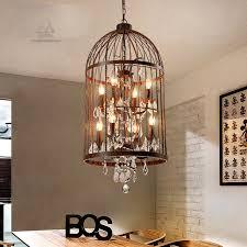 retro lamparas black decor american vintage industrial bird cage within bird cage pendant light regarding invigorate