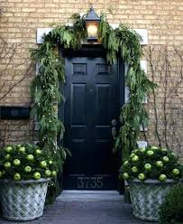 Front Door Garland Swags Image Number Of Decoration