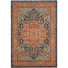 safavieh evoke blue orange 7 ft x 9 ft area rug