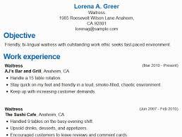 Sample Resume For Restaurant Server Interesting Banquet Server Resume Typical Restaurant Server Resume Samples