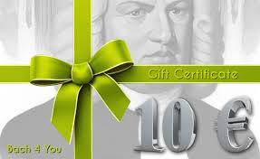 the johann sebastian bach gift certificate