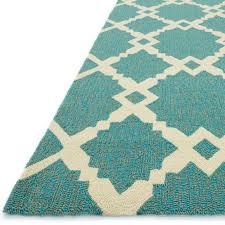 ventura spiked trellis turquoise outdoor rug 7ft 6in x 9ft 6in