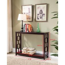 kings brand furniture cherry entryway console sofa occasional table c1270 the home depot