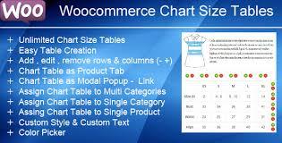 Woocommerce Product Chart Sizes Table Documentation Gema75