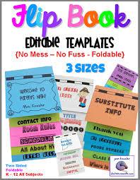 Editable Foldable Templates Editable Flip Book Template Bundle Foldable No Mess 3 Sizes
