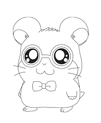 Small Picture Hamtaro Coloring Pages For Girls Animals Cartoon Coloring pages