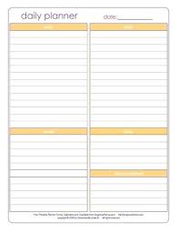 printable daily calendars free printable weekly planner schedule blank daily template work