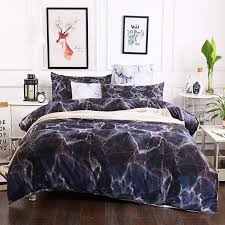 3d black marble bedding set quilt cover