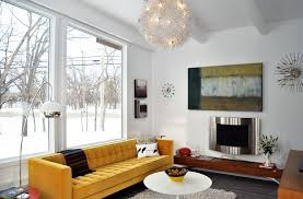 ... A Splash Of Yellow For The All White Living Room [From: Houzz]