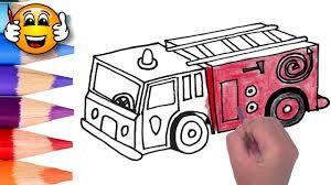 Small Picture Coloring Pages For Kids Fire Truck Fire Engine Coloring for Kids