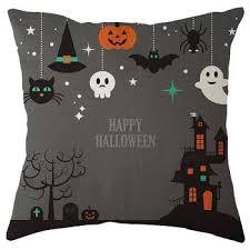 <b>Digital Print</b> Pillow Case <b>Halloween</b> Linen <b>Sofa</b> Car Throw Cushion ...