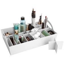 ... Make-Up Carousel - White, Bathroom Vanity Tray
