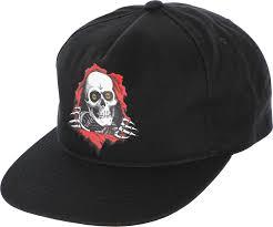 black Powell Peralta Ripper Snapback Hat - Free Shipping | Tactics