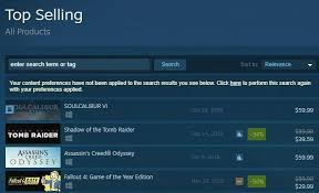 Steam Charts Soul Calibur As Of Right Now Soul Calibur Is The Top Selling Game On