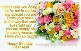 100 Inspirational Birthday Message For Aunt In English