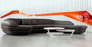 Unique Leather Furniture living room: inspiring idea for living room  decoration using black