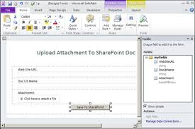 Form Library Sharepoint 2010 Save Infopath Attachment To Sharepoint 2010 Document Library