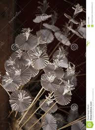 Paper Folded Flower White Paper Folded Into Flowers Stock Photo Image Of