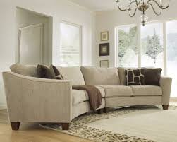 Curved Sectional Sofa Set - Rich Comfortable Upholstered Fabric ...