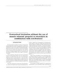 Muscle Relaxer Comparison Chart Orotracheal Intubation Without The Use Of Muscle Relaxant