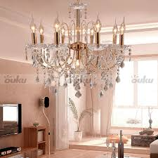 crystal candle style elegant 9 lights chandelier uplight pendant ceiling lamp