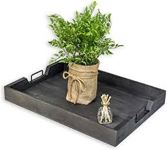 See more ideas about coffee table tray, coffee table, decorating coffee tables. Amazon Com Coffee Table Tray 19 9 X 13 8 X 2 2 Inches Wood Ottoman Tray Serving Tray For Coffee Table Decor Decorative Tray With Sturdy Handles Ultra Elegant Black Serving Trays