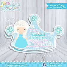 elsa birthday invitations princess elsa party invitations frozen princesses elsa