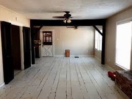 white painted wood floors distressed