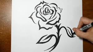 Draw A Design How To Draw A Tribal Rose With A Stem Design