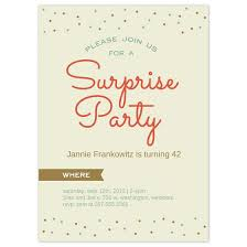 Party Invitations Surprise Party Birthday Invitation Cards Custom Surprise Party